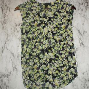 J. Crew Floral Sleeveless Silk Top Size 00 XS